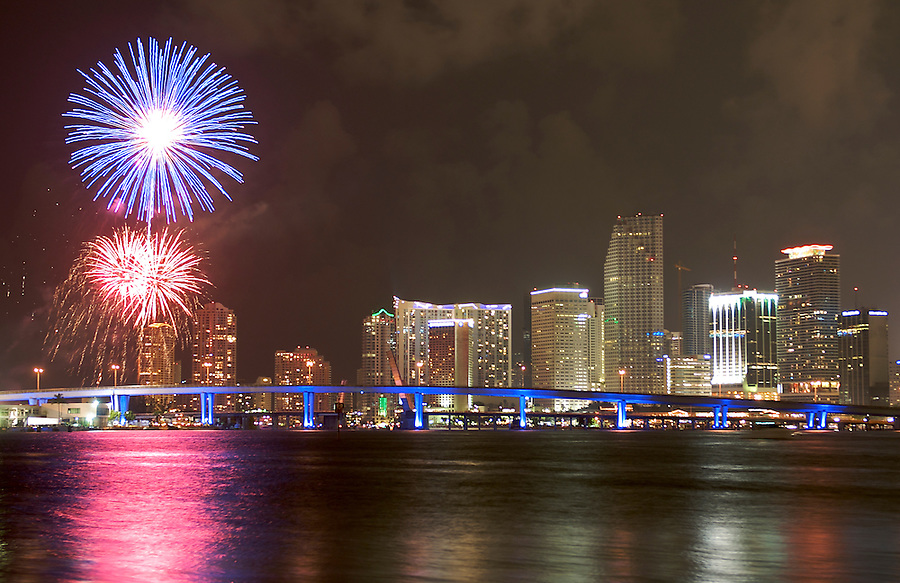 4th Of July celebration in Biscayne Bay, Miami, Florida, USA. 2008.