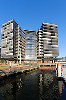 New ANZ Bank Headquarters, Docklands area Melbourne on Yarra river frontage, Victoria. Australia.<br />