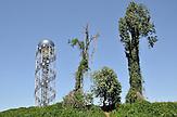 Turm in Batumi mit georgischem Alphabet. / Alphabet Tower in Batumi.