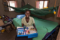 BRAC PROJECT, Health project and community health promoters. Grace Jogo Jsaiah, a volunteer, has a medical kit that she keeps in her home and follows the healthcare worker. She delivered 3 babies, as well as her own by herself.