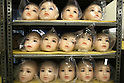 June 23, 2010- Tokyo, Japan - Model heads are shown waiting for hair and assembly to silicone bodies at Orient Industy factory in Tokyo Japan, on June 23, 2010.  Orient Industry is a 33-year-old company which is number one in Japan for producing over 1,000 Love Dolls annually, ranging in price from ¥90,000 to ¥700,000.