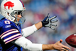 29 November 2009: Buffalo Bills' punter Brian Moorman warms up prior to facing the Miami Dolphins at Ralph Wilson Stadium in Orchard Park, New York. The Bills defeated the Dolphins 31-14. Mandatory Credit: Ed Wolfstein Photo