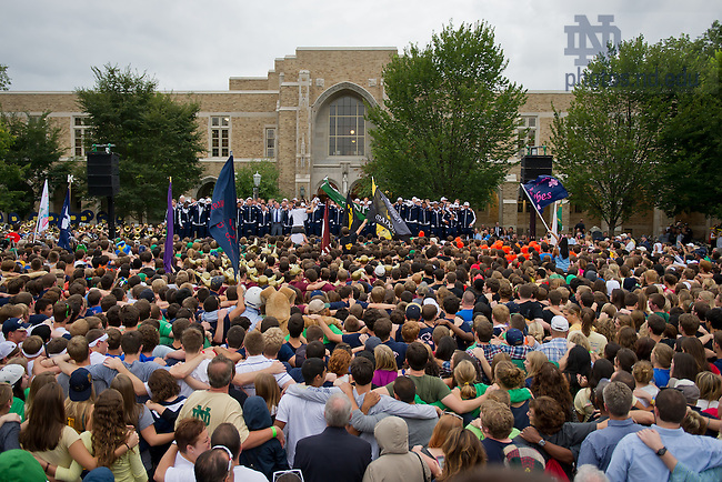 Sept. 7, 2011; Pep Rally before the first home game 2012...Photo by Matt Cashore/University of Notre Dame