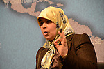 Merhezia Labidi Maiza, deputy speaker of Tunisia's constituent national assembly, speaks on the achievements and challenges of Tunisia's new political regime at Chatham House, London, on 21 March 2012