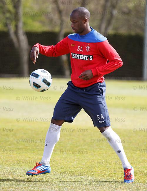 Sone Aluko doing ball tricks