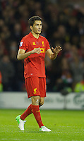 WEST BROMWICH, ENGLAND - Wednesday, September 26, 2012: Liverpool's Nuri Sahin celebrates scoring the first goal against West Bromwich Albion during the Football League Cup 3rd Round match at the Hawthorns. (Pic by David Rawcliffe/Propaganda)