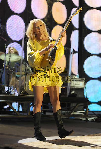 yellow dress  guitar
