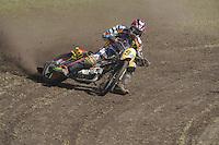 MOTORSPORT: JOURE: 18-05-2014, MC Flying Boetoe, Grasbaanraces Nutsbaan, Dirk Fabriek, ©foto Martin de Jong