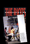 "An inside page on top of the cover to the Los Angeles Times book ""Understanding the Riots."""