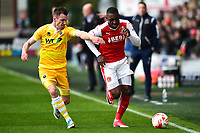Fleetwood Town's Amari'i Bell is challenged by Millwall&rsquo;s Jed Wallace<br /> <br /> Photographer Richard Martin-Roberts/CameraSport<br /> <br /> The EFL Sky Bet League One - Fleetwood Town v Millwall - Monday 17th April 2017 - Highbury Stadium - Fleetwood<br /> <br /> World Copyright &copy; 2017 CameraSport. All rights reserved. 43 Linden Ave. Countesthorpe. Leicester. England. LE8 5PG - Tel: +44 (0) 116 277 4147 - admin@camerasport.com - www.camerasport.com