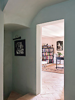 View through the open doorway into the first floor library