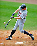 9 March 2010: Detroit Tigers' infielder Don Kelly (right) smacks a double during a Spring Training game against the Washington Nationals at Space Coast Stadium in Viera, Florida. The Tigers defeated the Nationals 9-4 in Grapefruit League action. Mandatory Credit: Ed Wolfstein Photo