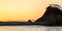 Early morning at Otata Island, which is close to Rakino Island.