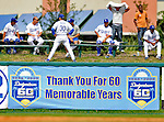 12 March 2008: A sign in the outfield thanks the fans at Holman Stadium, in Vero Beach, Florida. 2008 marks the final season of Spring Training at Dodgertown for the Dodgers, as the team will move to new training facilities in Arizona starting in 2009 after 60 years in Florida...Mandatory Photo Credit: Ed Wolfstein Photo