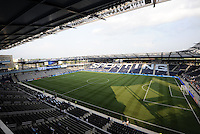 LIVESTRONG Sporting Park..Sporting KC were held to a scoreless tie with Chicago Fire in the inauguarl game at LIVESTRONG Sporting Park, Kansas City, Kansas.