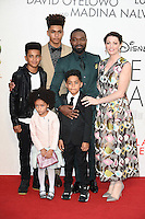 LONDON, UK. October 9, 2016: David Oyelowo, wife Jessica &amp; family at the London Film Festival 2016 premiere of &quot;Queen of Katwe&quot; at the Odeon Leicester Square, London.<br /> Picture: Steve Vas/Featureflash/SilverHub 0208 004 5359/ 07711 972644 Editors@silverhubmedia.com