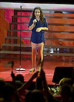 MIAMI, FL - OCTOBER 29: Julia Dale performs the national anthem at the Jennifer Lopez Gets Loud for Hillary Clinton at GOTV Concert in Miami at Bayfront Park Amphitheatre on October 29, 2016 in Miami, Florida. Credit: MPI10 / MediaPunch