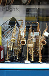 Instruments in a shop window in Paris.