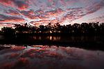 Sunset over Coopers Creek in Innamincka.