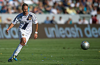 CARSON, CA - June 17, 2012: LA Galaxy midfielder Marcelo Sarvas (8) during the LA Galaxy vs Portland Timbers match at the Home Depot Center in Carson, California. Final score LA Galaxy 1, Portland Timbers 0.