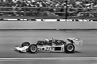 INDIANAPOLIS, IN - MAY 29: Al Unser drives his Parnelli VPJ6B 001/Cosworth TC during the Indianapolis 500 on May 29, 1977, at the Indianapolis Motor Speedway in Indianapolis, Indiana.