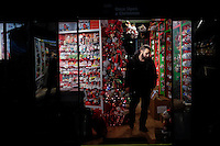 People visit a store decorated for Christmas holidays in New York, 12/9/2015 Photo by VIEWpress