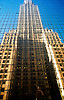 USA NEW YORK CITY NOV97 - The Chrysler Building is reflected in glass panels of the building opposite along 42nd Street. Photography by Jiri Rezac<br /> Tel 0044(0)208 944 6933<br /> www.linkphotographers.com