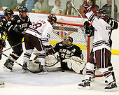 Mike McCann (Colgate - 28) was called for goalie interference AND awarded the goal. - The host Colgate University Raiders defeated the Army Black Knights 3-1 in the first Cape Cod Classic at the Hyannis Youth and Community Center in Hyannis, MA.