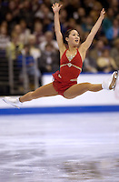 Jan 12, 2002; Los Angeles, USA;  Skater MICHELLE KWAN takes 1st place in Ladies at 2002 US Figure Skating Championships to make US Olympic team..(Photo by Tom Theobald).