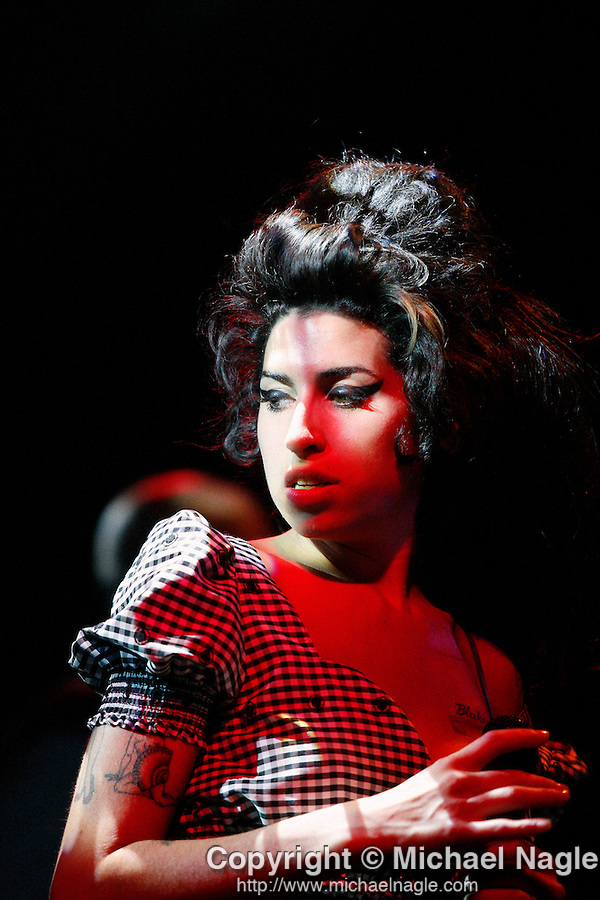 NEW YORK, NY -- May 08, 2007:  Amy Winehouse, the English retro-soul chanteuse, appeared at the Highline Ballroom May 08 , 2007 in New York City. (Photograph by Michael Nagle)