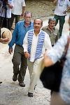 President Felipe Calderon and Peter Greenberg visiting Calakmul
