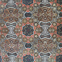 Decorative detail of the ceiling of the great hall, recently restored, in the Ashkenazi Synagogue, built 1902 by Karel Parik in Neo Moorish style on the banks of the river Miljacka, Sarajevo, Bosnia and Herzegovina. Ashkenazi Jews arrived in Sarajevo with the Austro-Hungarian Empire in the late 19th century. The building is a National Monument. Picture by Manuel Cohen