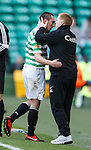 Neil Lennon and Scott Brown