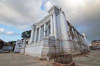 Nepal, Kathmandu, damage after the earthquake in Kathmandu Durbar Square. Old Rana Palace of Hanman Dhoka.