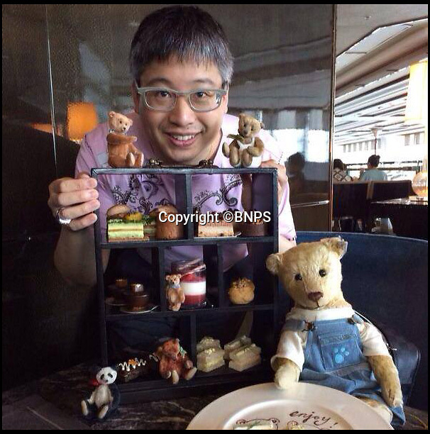 BNPS.co.uk (01202 558833)<br /> Pic: PhilYeomans/BNPS<br /> <br /> Former eccentric owner Jena Pang used to take his beloved bears everywhere with him.<br /> <br /> The bear necessities this Xmas...&pound;100,000 line up of cuddly  toys.<br /> <br /> Britains largest collection of Steiff teddy bears are being sold next week...just in time to find a new home at Xmas.<br /> <br /> Eccentric solicitor Jena Pang from Southend is selling off his collection of 32 of the cuddly bear's, some of which are over 100 years old.<br /> <br /> Such is the demand for the famous German marque that the collection is estimated to realise well over &pound;100,000, with some bears selling for &pound;15,000 each.<br /> <br /> But despite the enormous values, Jena is more concerned that his family of bears find a loving home this Xmas.<br /> <br /> SAS Auctions - 4/12