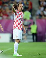FUSSBALL  EUROPAMEISTERSCHAFT 2012   VORRUNDE Kroatien - Spanien                 18.06.2012 Gordon Schildenfeld (Kroatien)