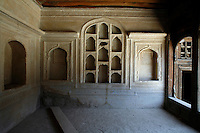 Decorated interior of the Great Serai. Turquoise Mountain Foundation is working to preserve Afghanistan's traditional crafts and historical buildings. In Kabul, work has started in the historic Murad Khane part of Kabul, and is largely completed in the royal Kart-e-Parwan fort.