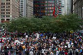 New York, New York<br /> October 10, 2011<br /> <br /> &quot;Occupy Wall Street&quot; protesters encampment at Zuccotti Park overflows on to adjacent streets as more  people come to take part or view the site.<br /> <br /> The participants of the event, that began on September 17, are mainly protesting against social and economic inequality, corporate greed, and the influence of corporate money and lobbyists on government, among other concerns.