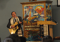 NWA Democrat-Gazette/FLIP PUTTHOFF <br /> YOM KIPPUR<br /> Rabbi Rob Lennick sings Wednesday Sept. 23 during a Yom Kippur service at Waterway Christian Church in Bentonville. Yom Kippur is a solemn day of fast in the Jewish faith. It is the last and most important of Judaism's 10 High Holy Days.