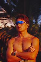 Ross Clarke Jones (AUS) during a winter season on the North Shore Oahu, Hawaii. Circa 1990. .Photo: joliphotos.com
