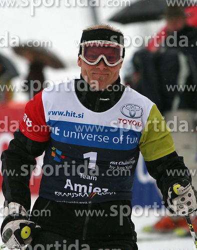 "Sebastien Amiez after the second run of ""Ski Legends HIT Challenge by Jure Kosir"" event in Kranjska Gora, Slovenia, on February 2, 2008. (Photo by Vid Ponikvar / Sportal Images)."