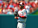 30 May 2011: Philadelphia Phillies infielder Wilson Valdez in action against the Washington Nationals at Nationals Park in Washington, District of Columbia. The Phillies defeated the Nationals 5-4 to take the first game of their 3-game series. Mandatory Credit: Ed Wolfstein Photo