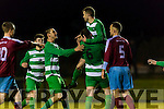 7 Celtic celebrates scoring the winning goal to give Killarney Celtic a famous victory against Mervue during their FAI cup tie in Celtic Park on Saturday night