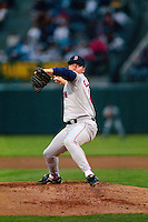 OAKLAND, CA - Roger Clemens of the Boston Red Sox pitches during a game against the Oakland Athletics at the Oakland Coliseum in Oakland, California in 1991. Photo by Brad Mangin