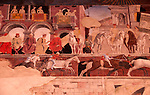 Frescos in the Palazzo Schifanoia, a Renaissance palace built for the Este family and dating back to the late 14th century