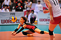Yuko Sano (JPN), NOVEMBER 17,2011 - Volleyball : FIVB Women's Volleyball World Cup 2011,4th Round Tokyo(A) during match between Japan 3-2 Germany at 1st Yoyogi Gymnasium, Tokyo, Japan. (Photo by Jun Tsukida/AFLO SPORT) [0003]