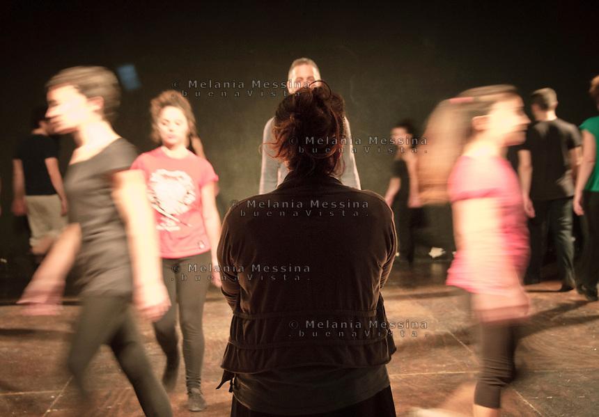 Palermo, laboratorio teatrale condotto da Emma Dante.<br /> Palermo, workshop with Emma Dante