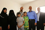Palestinian Prime Minister in Gaza strip, Ismail Haniyeh attends the opening of the Saudi neighborhood 'Saud 2' at Rafah in southern Gaza Strip, on May 31, 2014. Saudi Fund for Development handed over the 762 housing units at a cost of 50 million dollars under the supervision of the United Nations Relief and Works Agency 'UNRWA. Photo by Eyad Al Baba