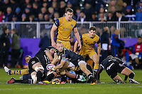 Will Homer of Bath Rugby looks to pass the ball. European Rugby Challenge Cup match, between Bath Rugby and Bristol Rugby on October 20, 2016 at the Recreation Ground in Bath, England. Photo by: Rogan Thomson /JMP for Onside Images
