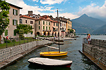 Rezzoncio, a town on Lake Como, Italy with a castle (seen in the background)